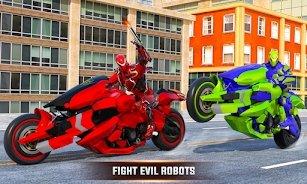 未来摩托机器人变形